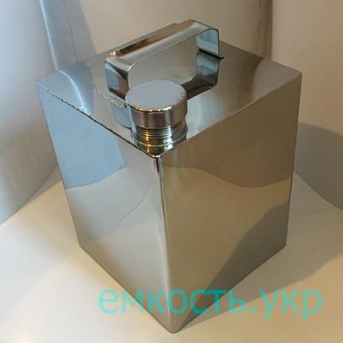 Канистра из пищевой нержавейки (куб) 10л