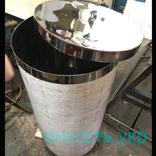 Бак круглый из пищевой нержавейки 200 литров