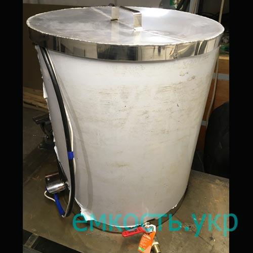 Бочка из пищевой нержавейки с тэном и терморегулятором 120 литров