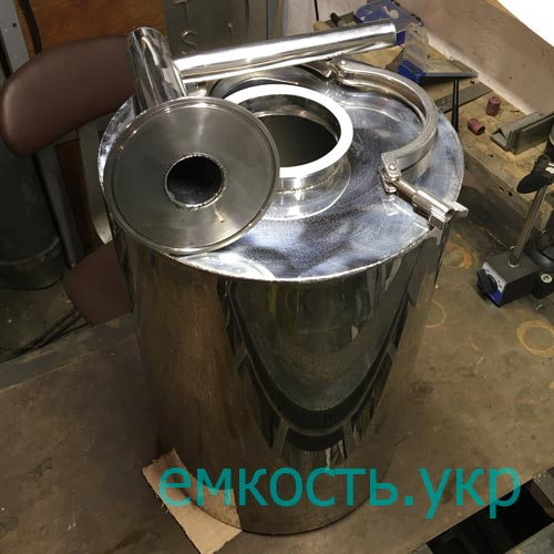 Боченок нержавейка с клампом 30 литров