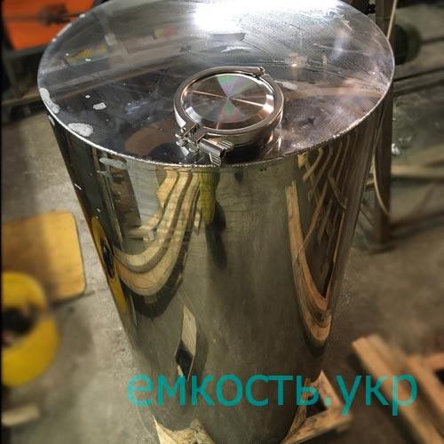 Бочка нержавейка с кламповой заглушкой 200 литров