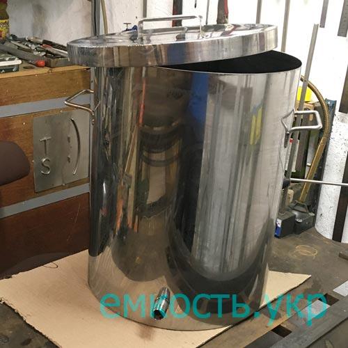 Бочка с крышкой и штуцером из пищевой нержавейки 60 литров