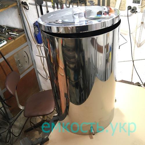 Бочка пищевая нержавейка 150 литров с резьбой под тэн и сливным штуцером