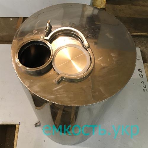 Бочка нержавейка с кламповой заглушкой 100 литров
